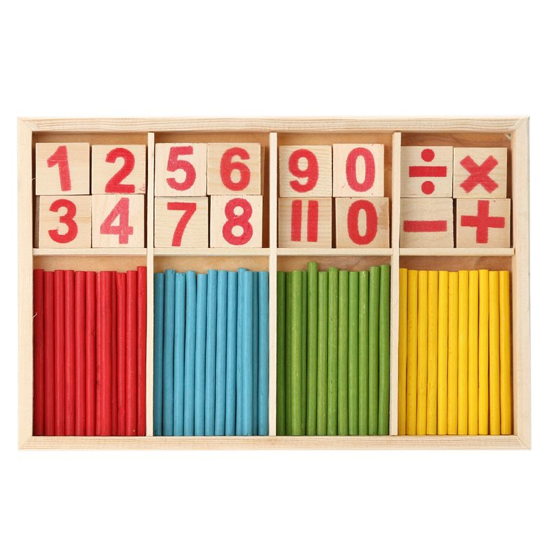 Children Wooden Numbers Mathematics Early Learning Counting Educational Toy Educational Toys Kids Gift Wood Toy Wooden Toy 木のおもちゃ 学習 知育玩具