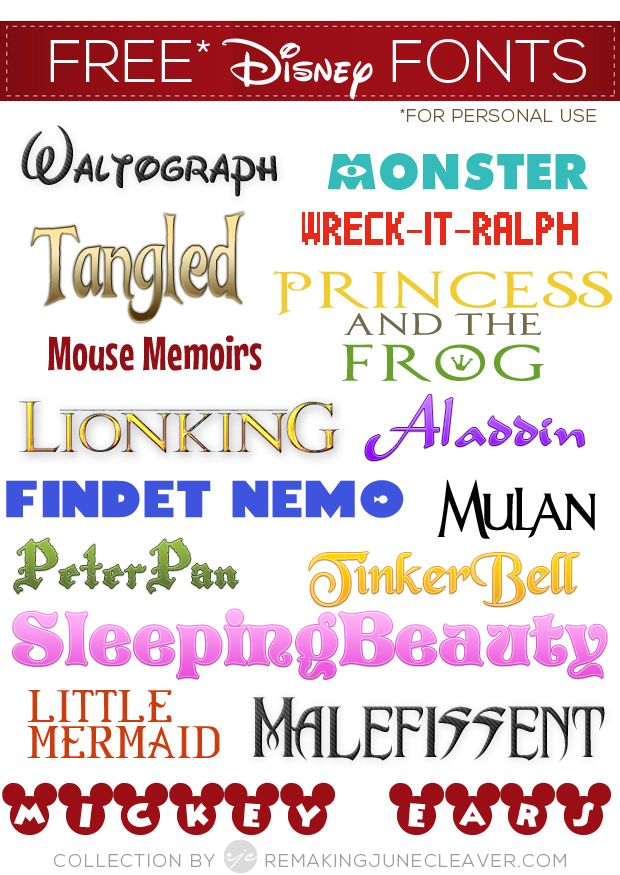 Free Disney Fonts {16 free fonts w/ easy download links