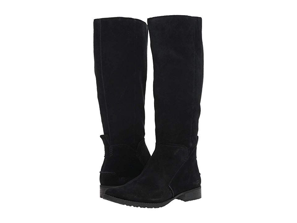 dd0e210721b UGG Leigh Boot (Black) Women's Zip Boots. The UGG Leigh is a classic ...