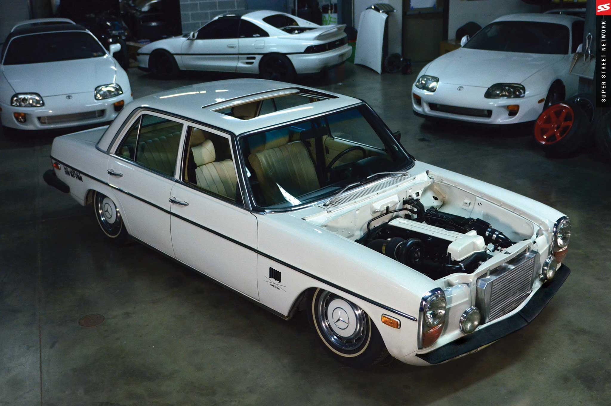 The holy grail of engine swaps a toyota supra 2jz engine swapped the holy grail of engine swaps a toyota supra 2jz engine swapped into a mercedes sciox Images