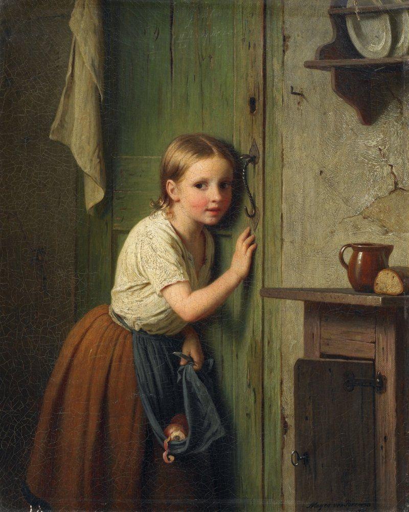 Johann Georg Meyer von Bremen (German, 1813–1886) ~ Mädchen an der ...