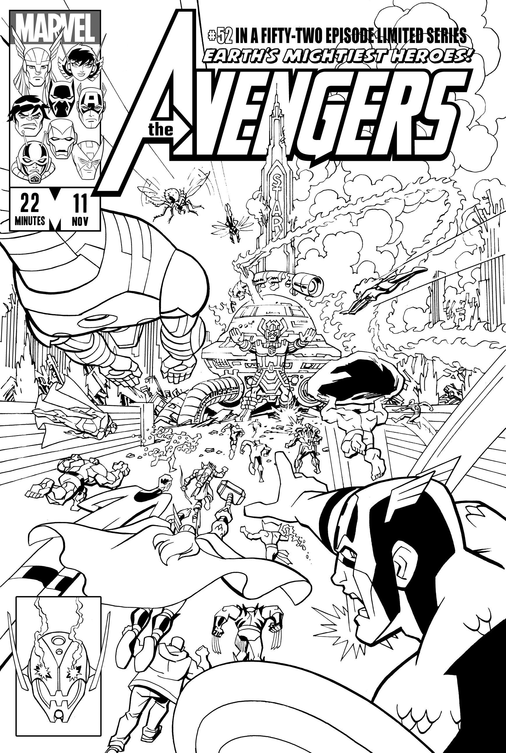 Avengers-Secret-Wars-prev.jpg (1737×2588) | Lineart: Avengers ...