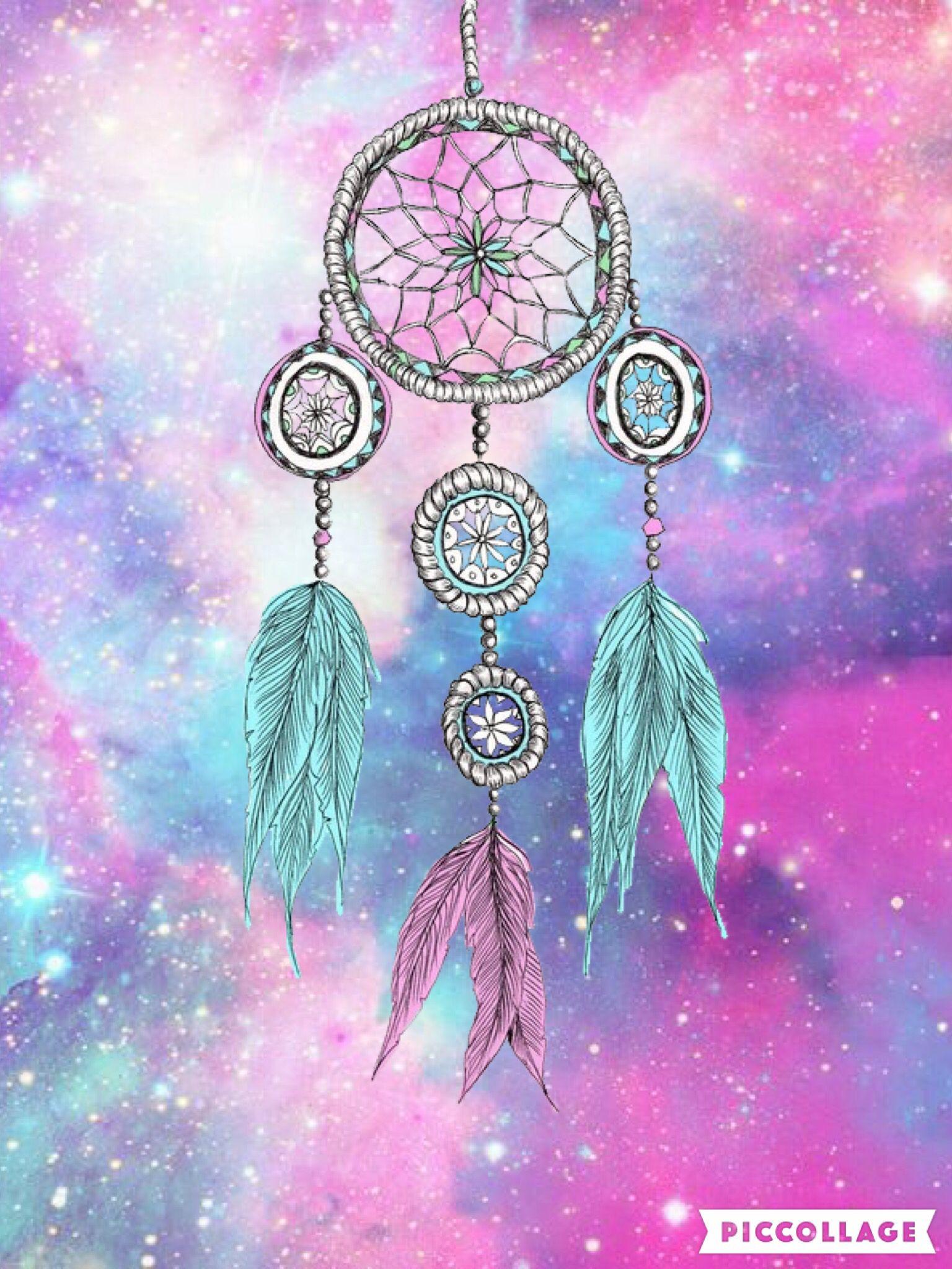 Tumblr iphone wallpaper dreamcatcher - Galaxy Dream Catcher