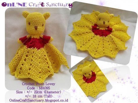 Online Craft Sanctuary: Mini Pooh Lovey - Free Pattern