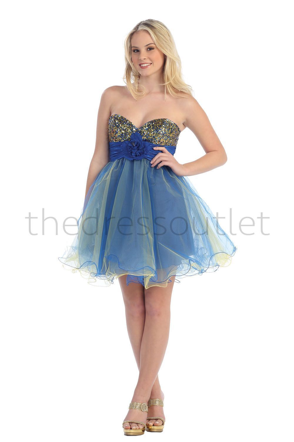 Short Tulle Prom Dress Sassy Homecoming Mini Formal-The Dress ...
