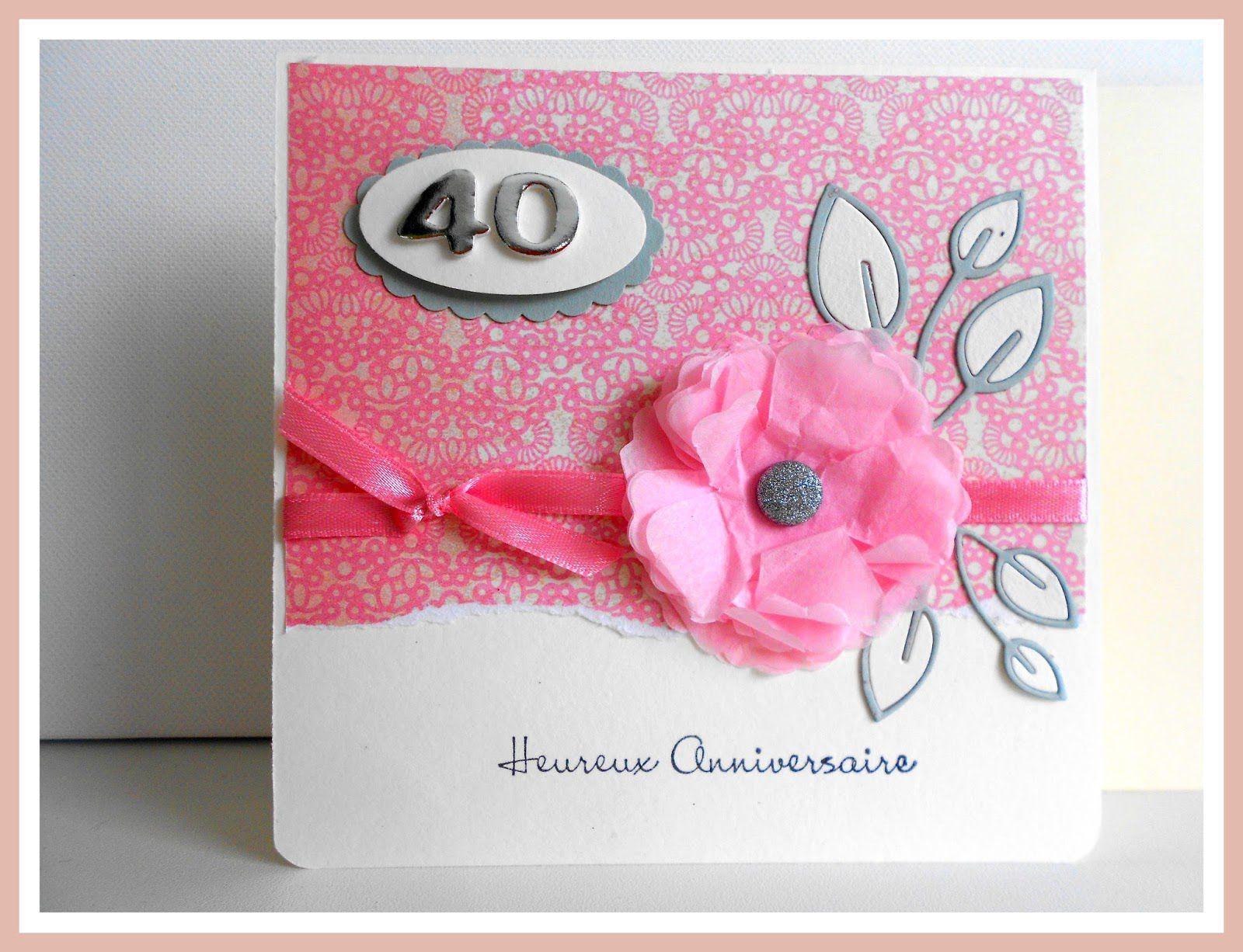 carte d invitation anniversaire 40 ans
