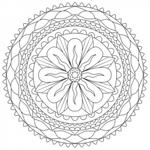 Abstract Flower Coloring Pages For Teens Flower Coloring pages