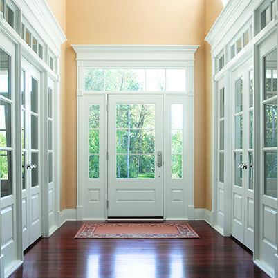 double doors with side and top light @ entry (Andersen Entry Doors ...