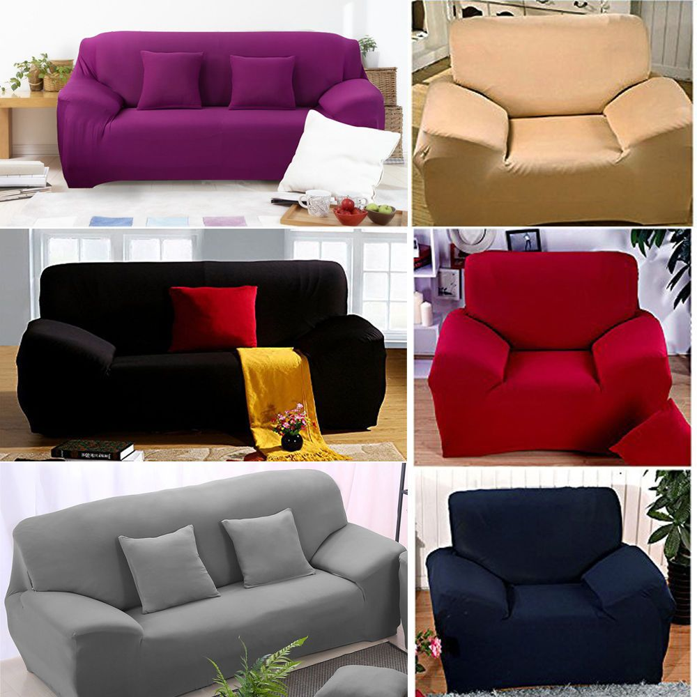 1 2 3 Seater Sofa Slipcover Stretch Protector Soft Couch Cover Washable Easy Fit Ebay Couch Covers Slipcovered Sofa Modern Furniture Living Room