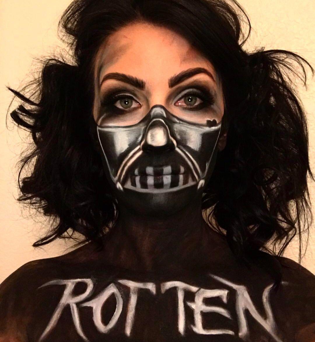 Darth Vader Darth Vader Face Paint Dark Vader Makeup Dark Vader And Harley Qu Darth Vader Face Paint Darth Vader Face Star Wars Makeup