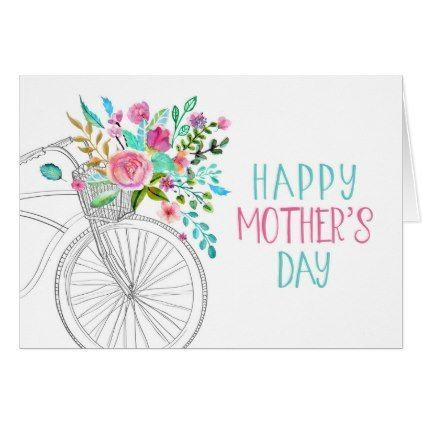 Watercolor Floral Mother's Day Card | Zazzle.com