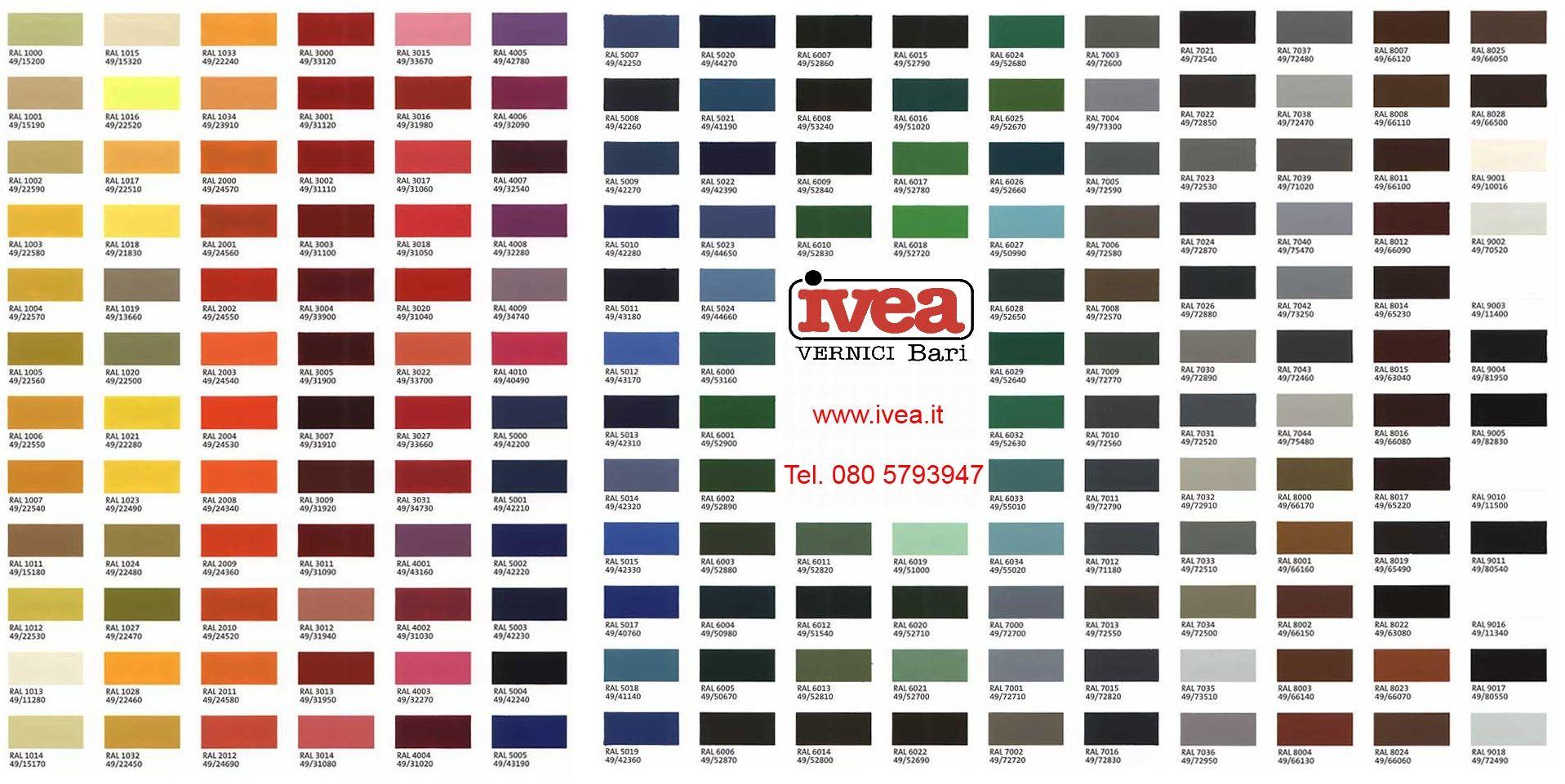Tabella Colori Sikkens Ral cartella colori vernici per interni