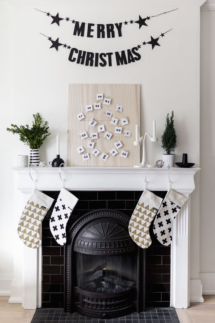 Petal Envelope Printable For Diy Scandinavian Inspired Advent Calendar Christmas Firep Christmas Fireplace Decor Minimalist Christmas Diy Christmas Fireplace