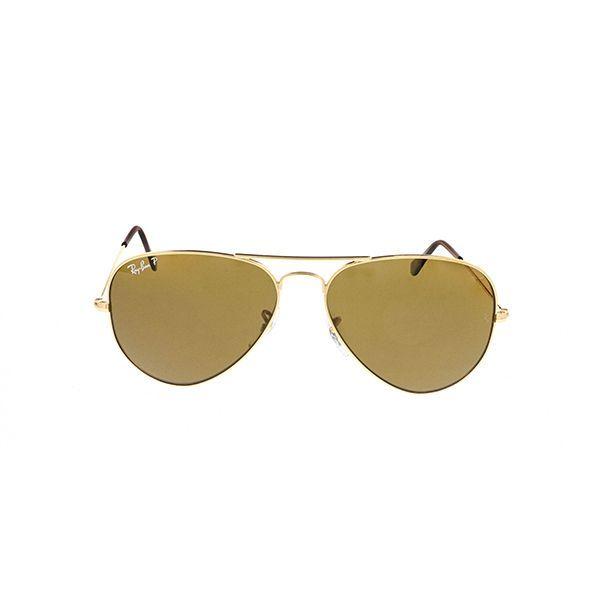 599fde1c4a2 Ray-Ban RB3025 Aviator Large Metal Polarized 001 57 Gold - Unisex  Prescription Sunglasses