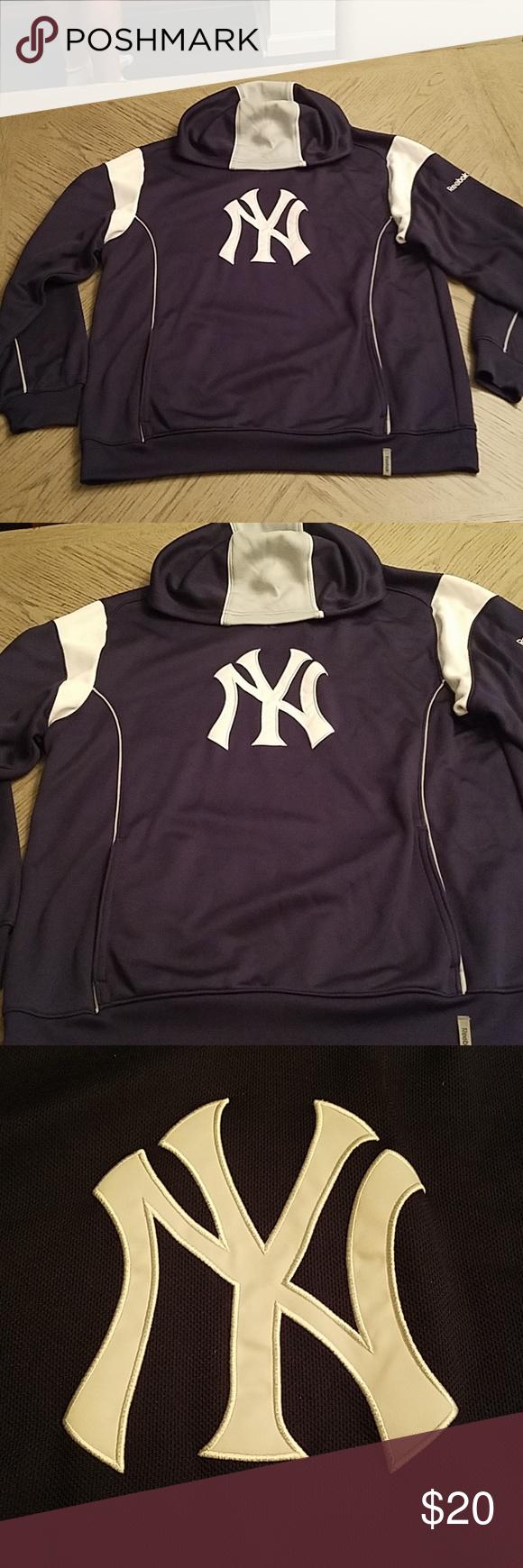 Men S Reebok Ny Yankees Hoodie Hoodies Clothes Design Reebok [ 1740 x 580 Pixel ]