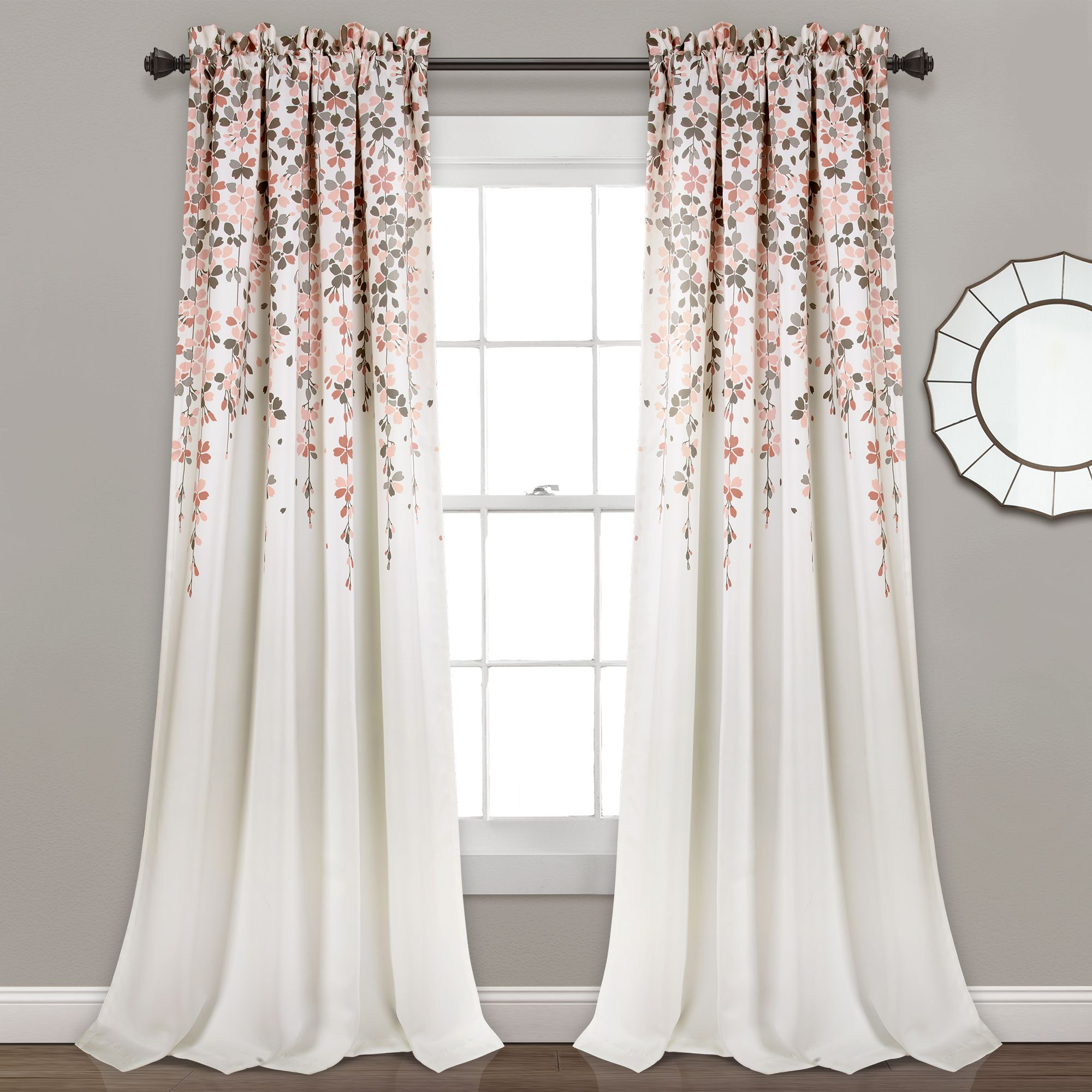 Home In 2020 With Images Lush Decor Pink Curtains Flower Room