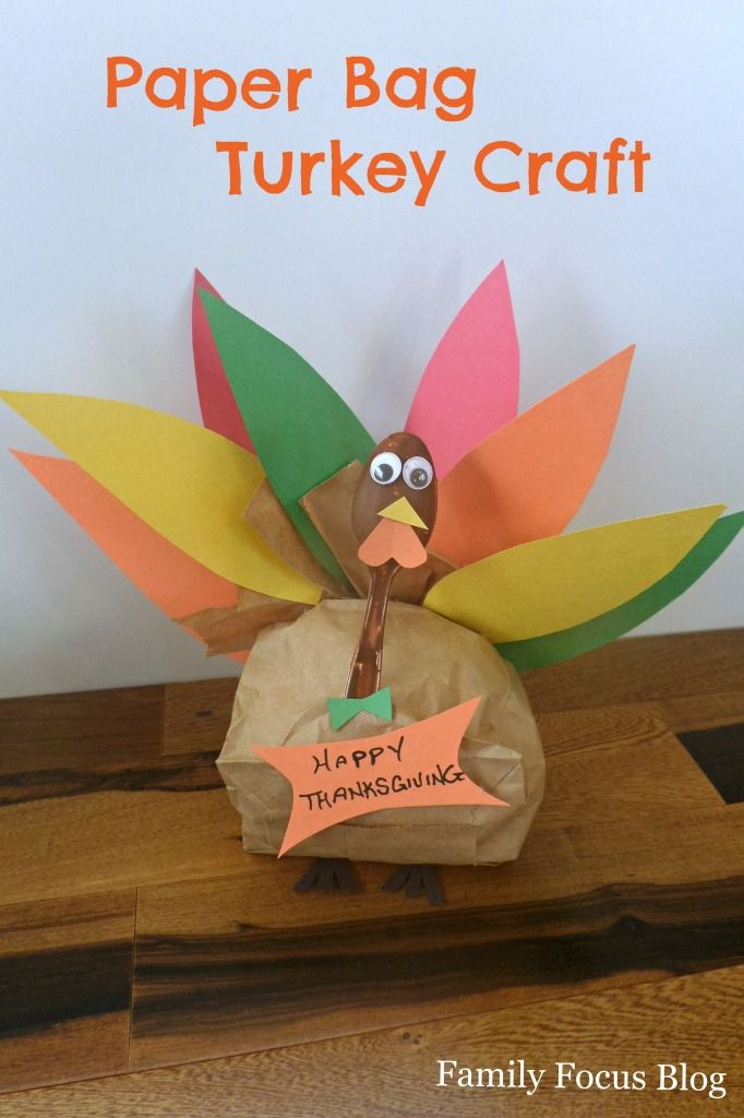 Paper bag turkey for thanksgiving thanksgiving craft and turkey craft paper bag turkey thanksgiving craft for kids crafts sciox Choice Image