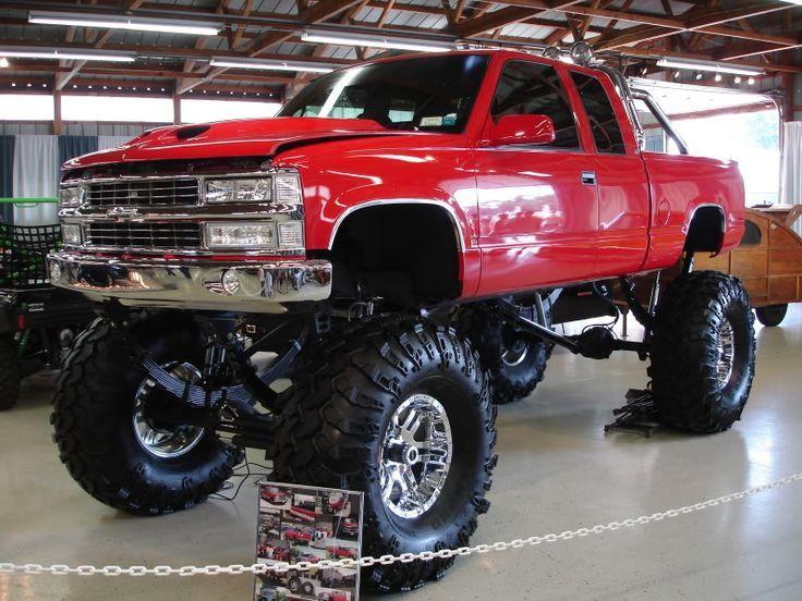 Womens Lifed Trucks 1998 Red Lifted Chevy Silverado