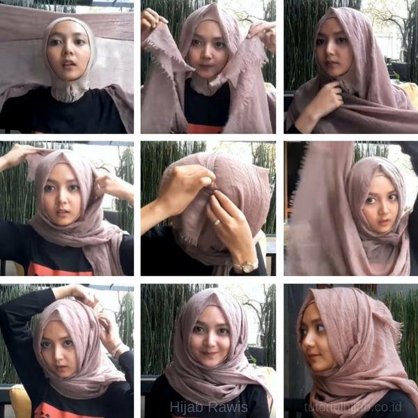 Tutorial Hijab Rawis Segi Empat Simpel Jilbab Sederhana Gaya