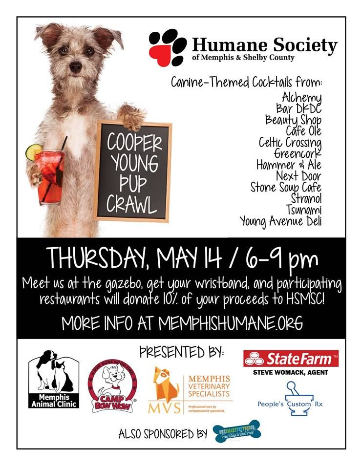Cooper Young Pup Crawl Benefits Humane Society Of Memphis Shelby