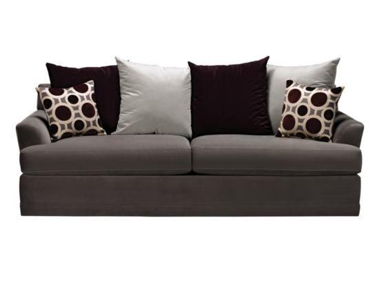 Radiance Pewter Sofa American Signature Furniture 499