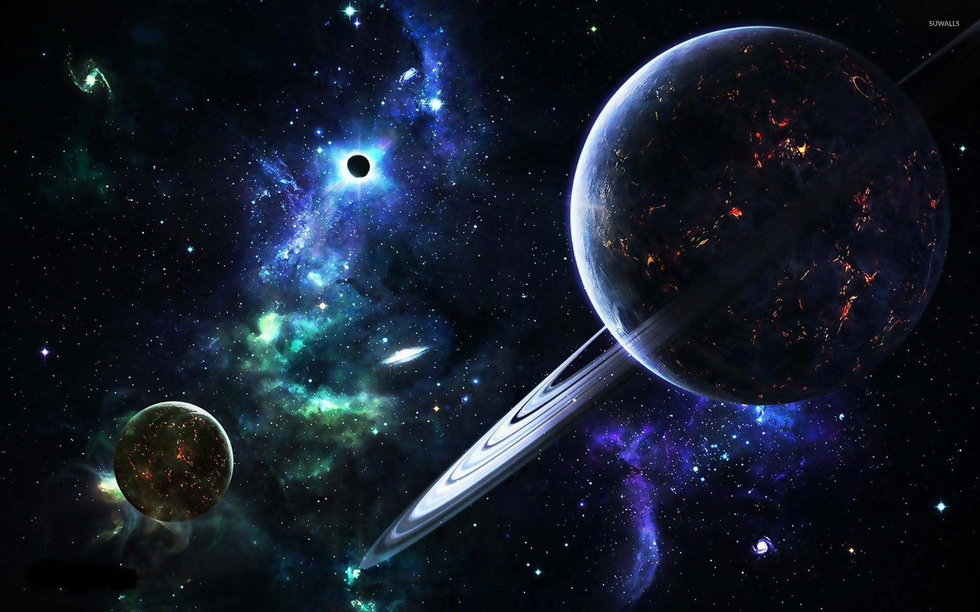 planets and galaxies wallpaper - fantasy wallpapers - #10872