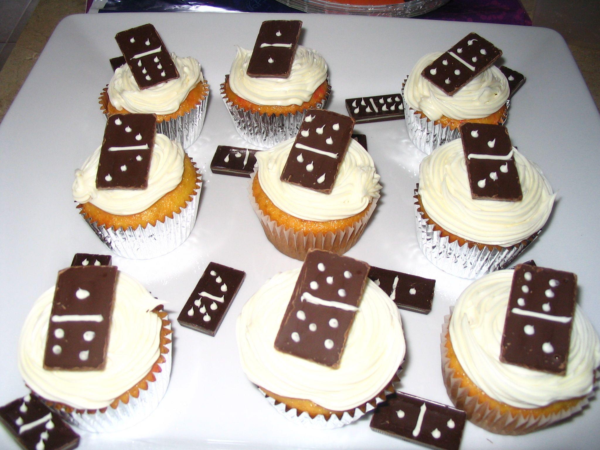 Game Night Domino Cupcakes Cupcake Cakes Cake Decorating