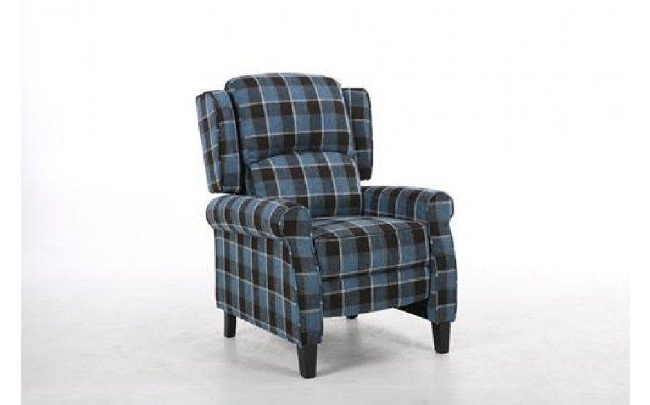 H4home Vintage Fabric Armchair Retro Sofa Recliner Tub Chair Seat