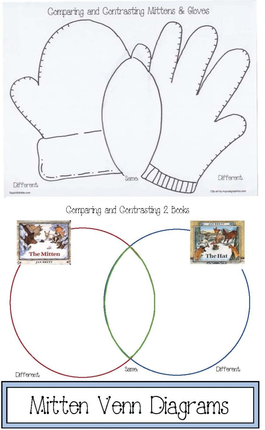 Mitten venn diagrams venn diagrams mittens and diagram mitten venn diagrams 5 pages packet includes 3 mitten venn diagrams including 1 where students compare and contrast 2 animal characters from the story ccuart