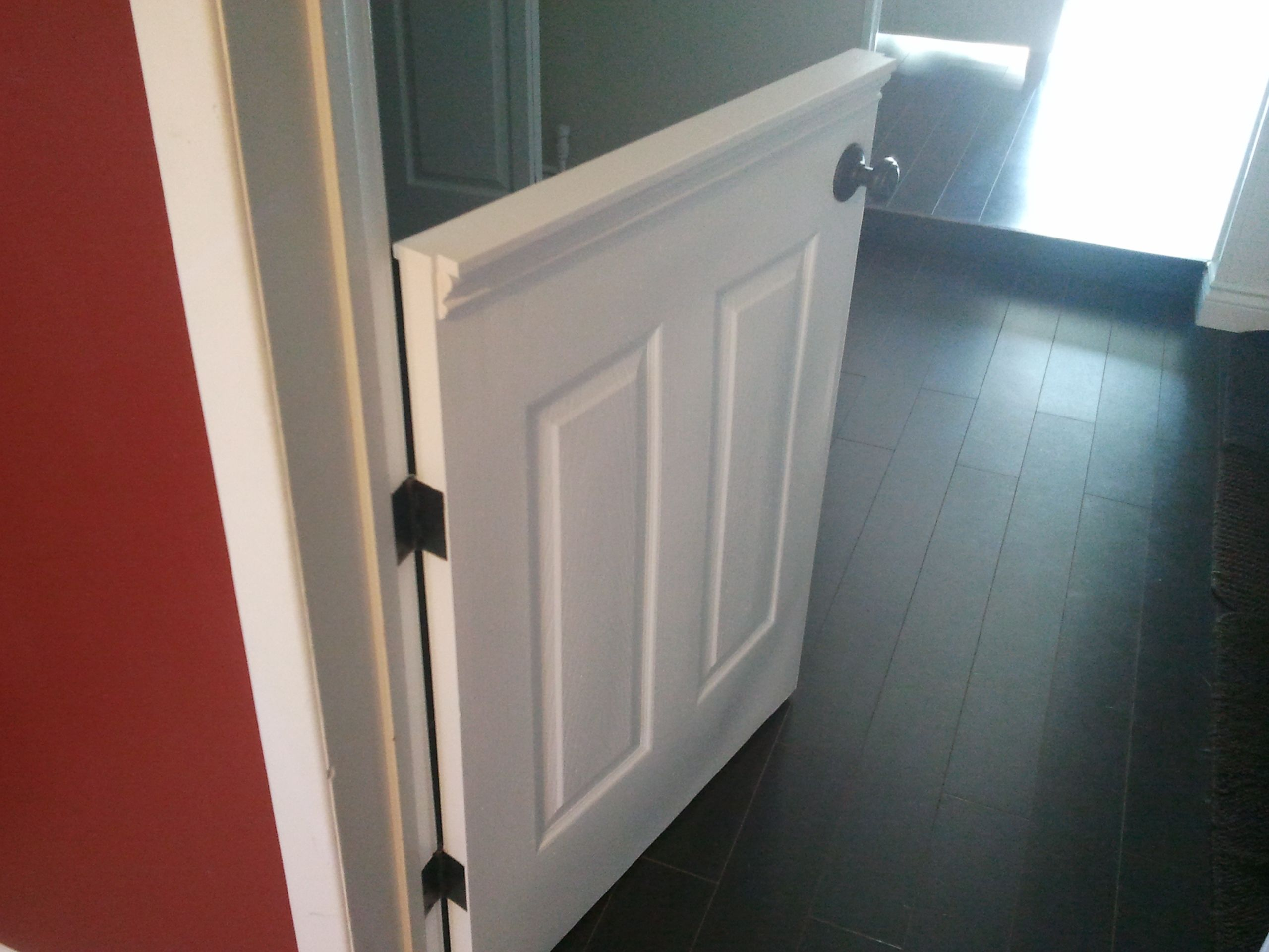 half doors | installed a half door to isolate our dog from the laminate flooring . & half doors | installed a half door to isolate our dog from the ...