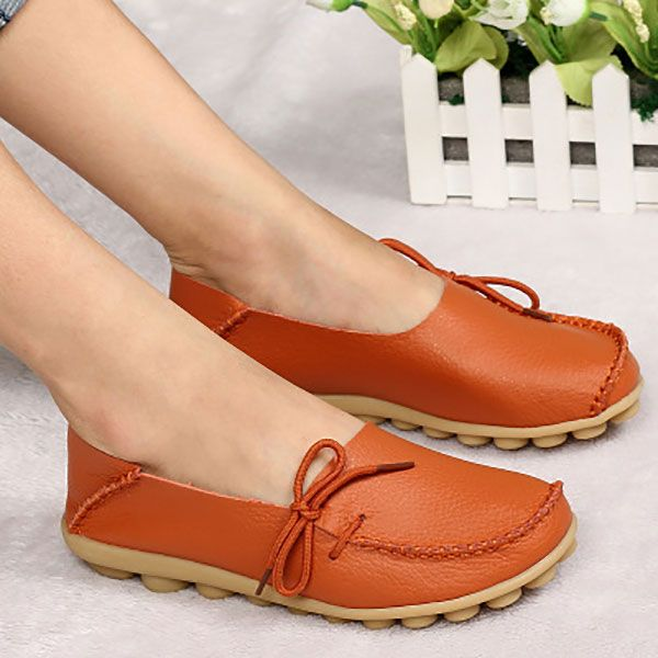 US Größe 5 5 5 12 New Damens Soft Comfortable Lace Up Flat Loafers fd5823