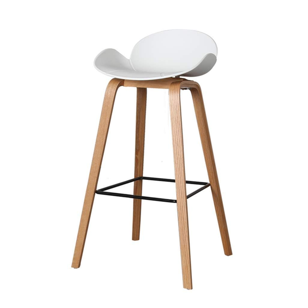 Chuan Han Chair Backrest With Backrest Pp White Seat Kitchen Dining Chair Bar White Seat Height 75 Cm Bar Stools Minimalist Chair Kitchen Bar Stools