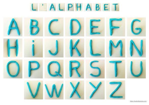 L'alphabet en pâte à modeler (avec images) | Pate a ...