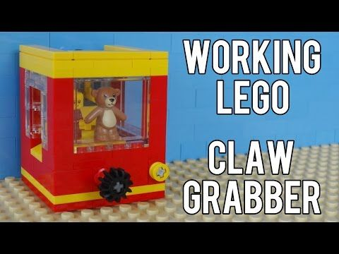 How To Build A Working Lego Claw Grabber Machine Youtube Kid