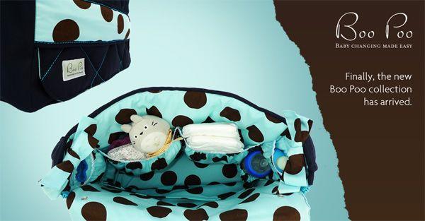 Boo Poo Nappy Bags Baby Changing Deluxe Wickeltaschen