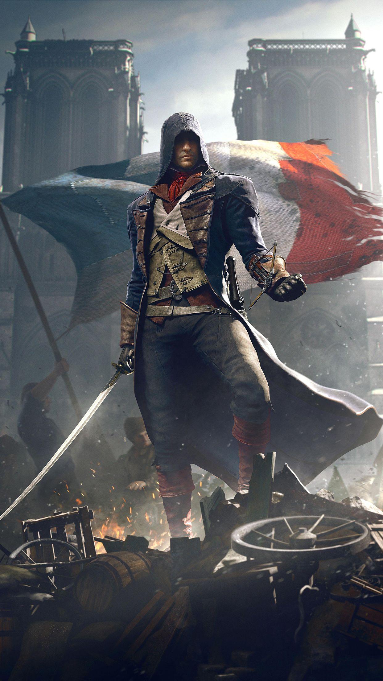 Assassins Creed Phone Wallpaper Wallpapersafari Assassins Creed Unity Arno Assassin S Creed Assassin S Creed Wallpaper