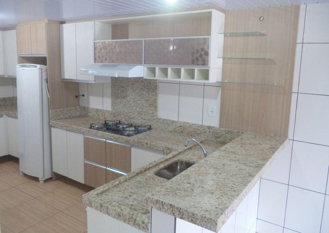 215 Cozinha Planejada Granito Amarelo Ornamental Inspira O  ~ Balcao De Granito Para Cozinha