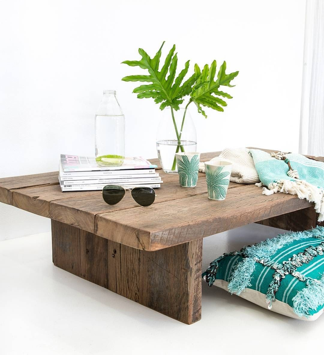 Coffee Table Enhancing Suggestions Can Turn That Messy Table Top Right Into A Layout Feature To B Recycled Timber Furniture Timber Furniture Coffee Table [ 1185 x 1080 Pixel ]