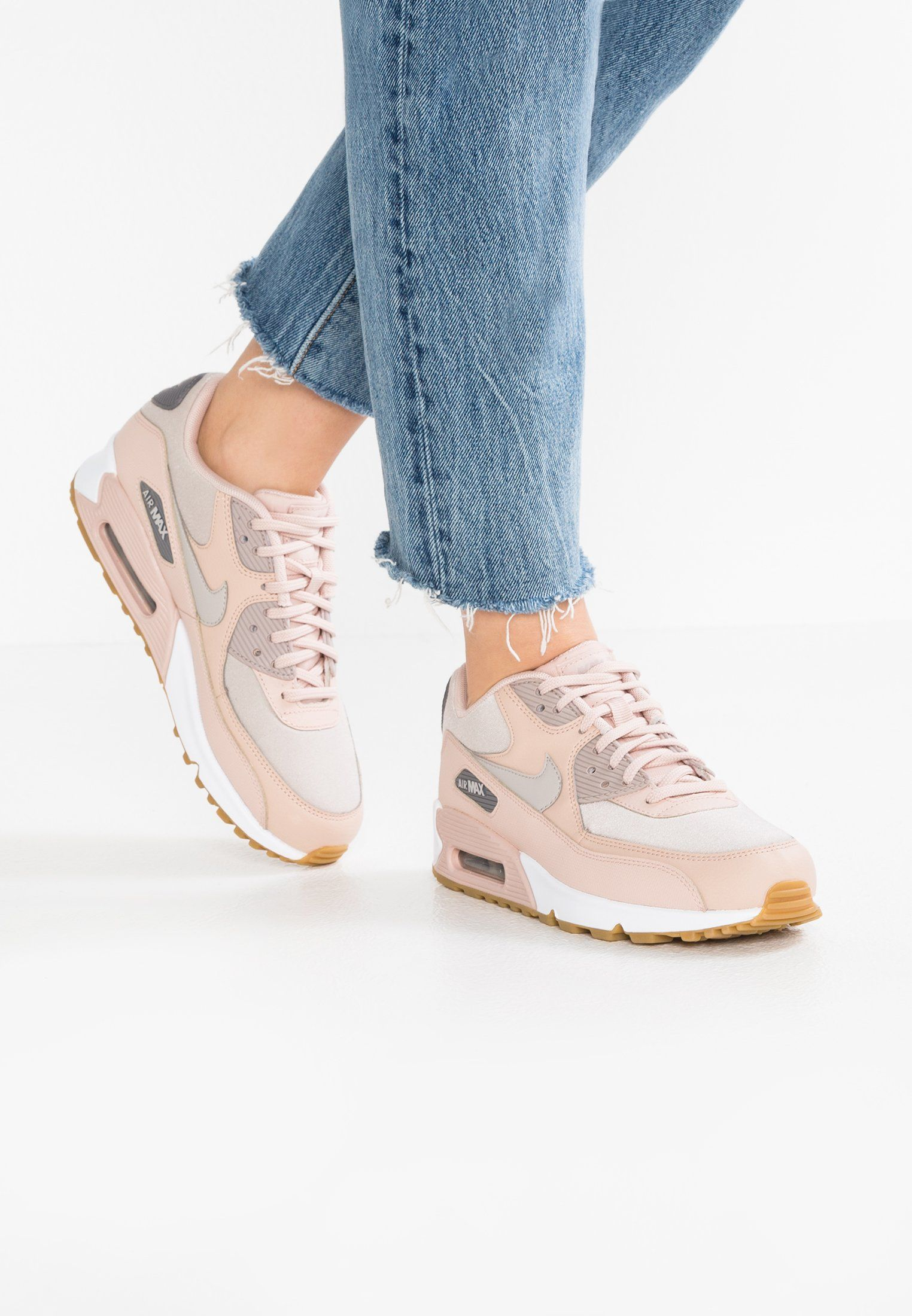 5186ba33b14 Nike Sportswear AIR MAX 90 - Sneaker low - particle beige/moon particle /gunsmoke