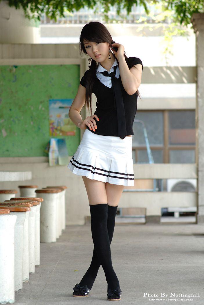 School Girl Look Photo Gallery Hwang Mi Hee, White -6423