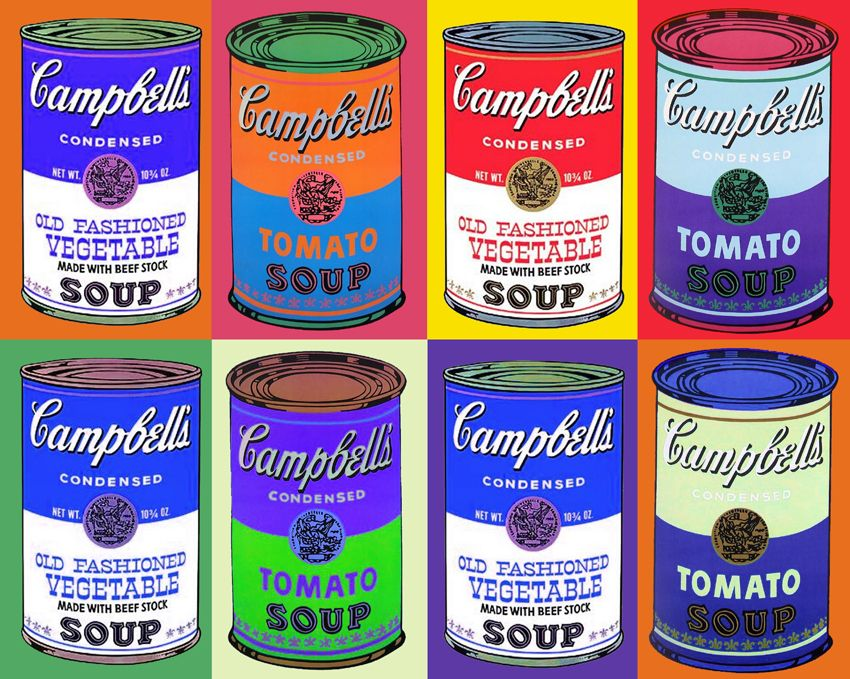 Image result for Andy Warhol cans