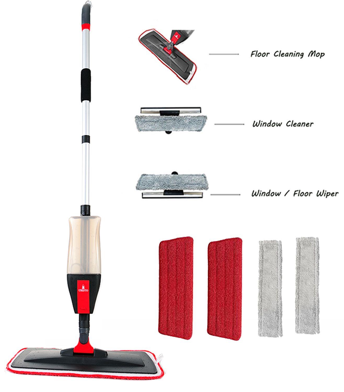 Buy Spray Mop 3 In 1 Spray Mop Kit Floor Mop Set With 5 Free Accessories 2 Reusable Microfiber Mop Pa Window Cleaner Floor Cleaning Mop Microfiber Mop Pads