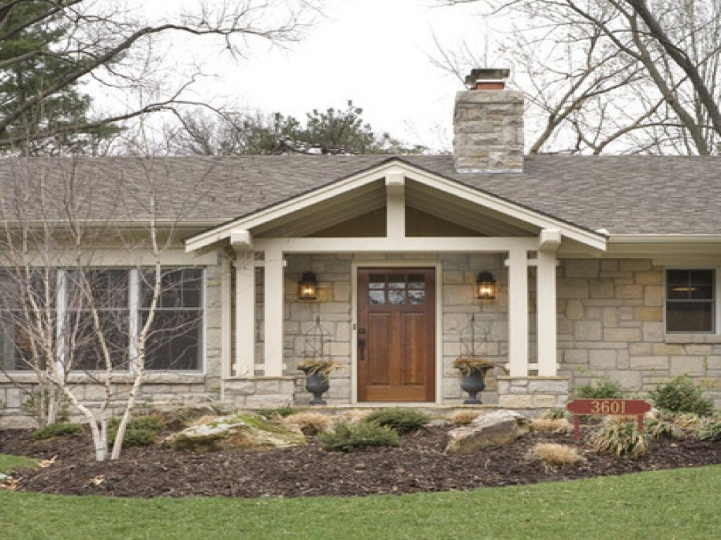 Front Porch Designs Ranch Style House Latest Decks Brick Front