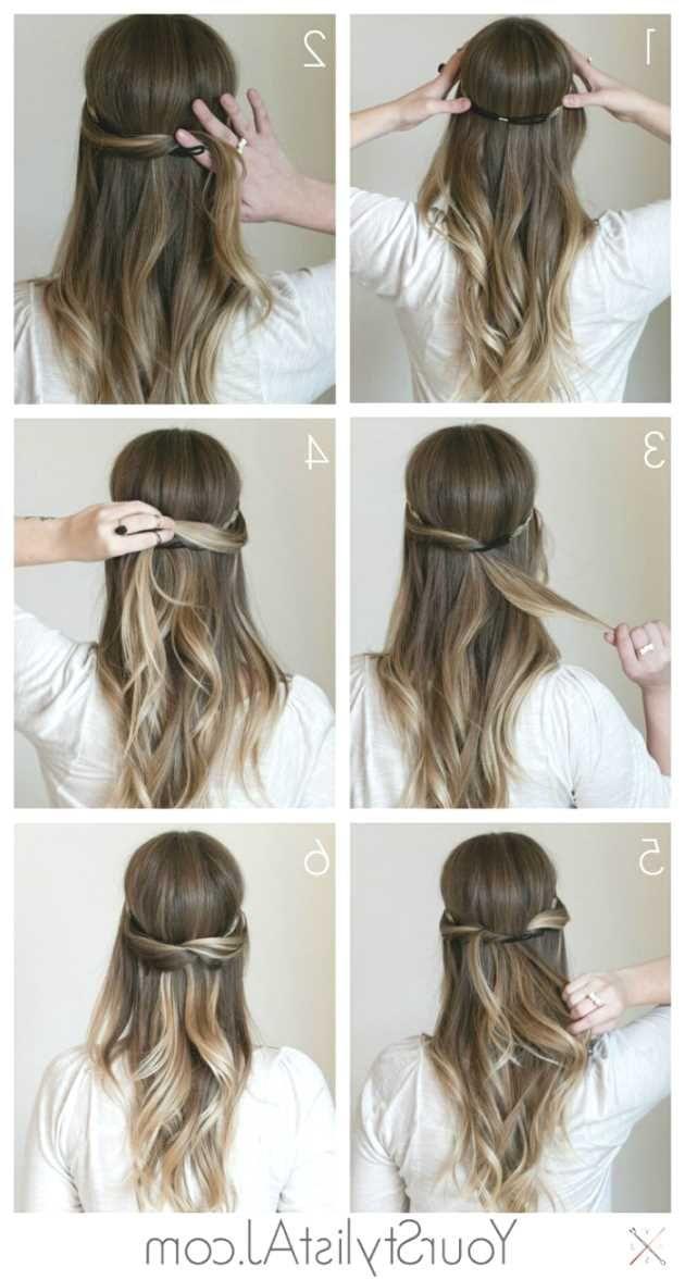 Frisur lange haare festlich