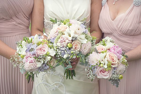 Rustic Country Homemade Wedding Pastel Bouquets Pretty Summer Http Martamayphotography Co