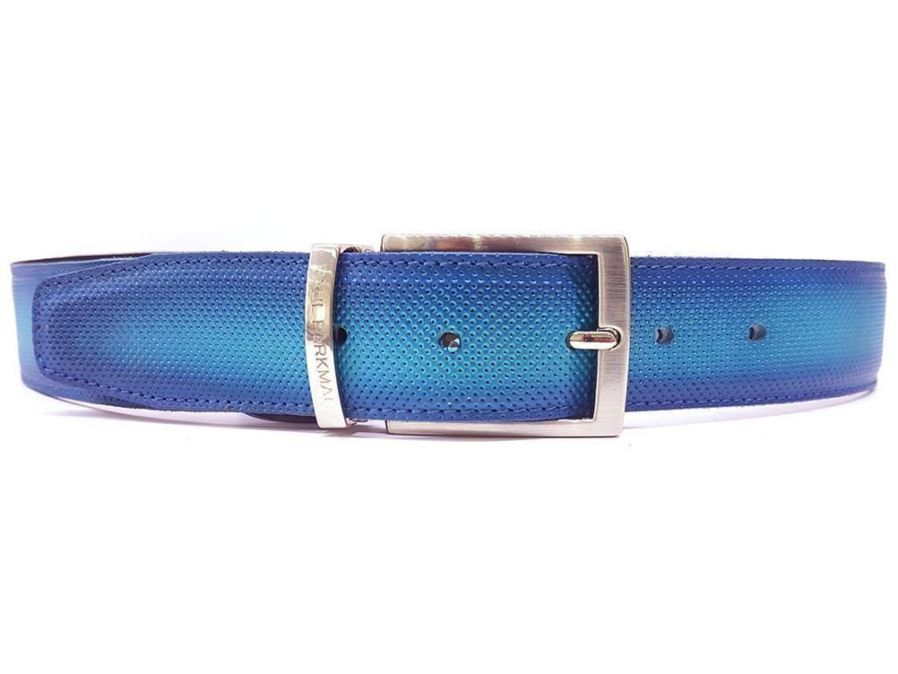 Paul Parkman Men/'s Leather Belt Hand Painted Cobalt Blue