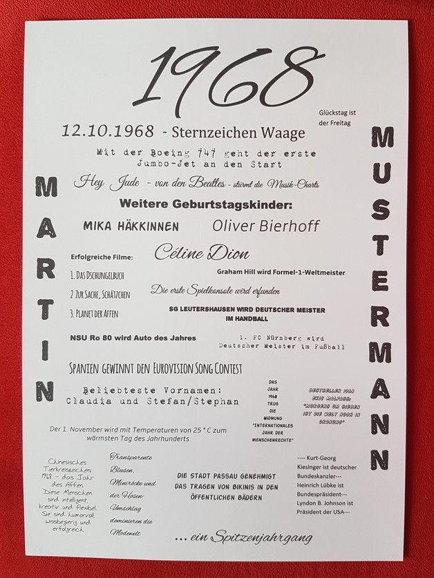 Druck Jahrgang 1968 50 Geburtstag Mama Geburtstags Geschenk