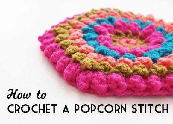 How to: Crochet a Popcorn Stitch - Video Tutorial | Cómo tejer ...