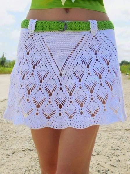 f57e9115a Patrones de falda tejida con ganchillo | Tejido crochet | Faldas en ...