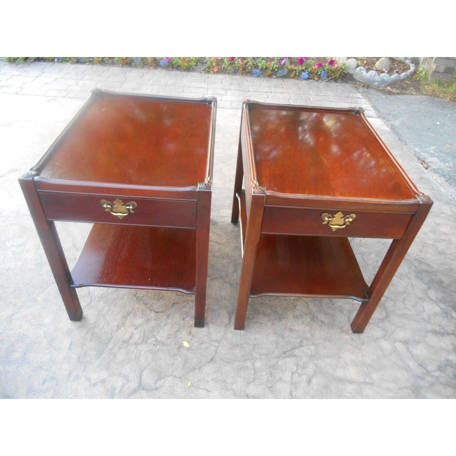 Hickory Chair Co. James River TwoTier End Tables A Pair
